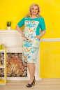Летнее платье футляр голубого тона цвета 2335.9 d15 No1|интернет-магазин vvlen.com