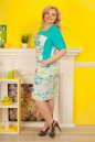Летнее платье футляр голубого тона цвета 2335.9 d15 No3|интернет-магазин vvlen.com