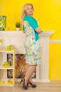Летнее платье футляр голубого тона цвета 2335.9 d15 No5|интернет-магазин vvlen.com