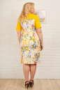 Платье футляр желтого тона цвета 2335.9 d15 No3|интернет-магазин vvlen.com