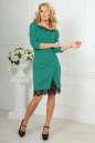 Повседневное платье футляр зеленого цвета No1|интернет-магазин vvlen.com