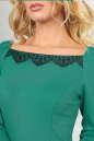 Повседневное платье футляр зеленого цвета No5|интернет-магазин vvlen.com