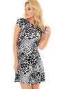 Летнее платье с открытой спиной черного с белым цвета No0|интернет-магазин vvlen.com