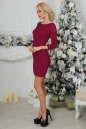Коктейльное платье футляр бордового цвета 2218.12 No2|интернет-магазин vvlen.com