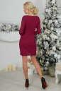 Коктейльное платье футляр бордового цвета 2218.12 No3|интернет-магазин vvlen.com