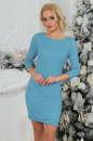 Коктейльное платье футляр бирюзового цвета 2218.12 No0|интернет-магазин vvlen.com