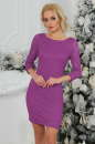 Коктейльное платье футляр фрезового цвета 2218.12|интернет-магазин vvlen.com
