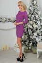 Коктейльное платье футляр фрезового цвета 2218.12 No2|интернет-магазин vvlen.com