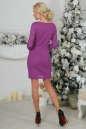 Коктейльное платье футляр фрезового цвета 2218.12 No3|интернет-магазин vvlen.com