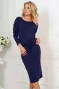 Повседневное платье футляр темно-синего цвета 2478.65|интернет-магазин vvlen.com