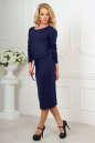 Повседневное платье футляр темно-синего цвета No2|интернет-магазин vvlen.com