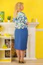 Летнее платье футляр голубого с белым цвета 2327.83 No1|интернет-магазин vvlen.com