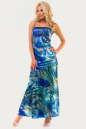 Вечернее платье с расклешённой юбкой сиреневого с голубым цвета No0|интернет-магазин vvlen.com