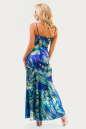 Вечернее платье с расклешённой юбкой сиреневого с голубым цвета No2|интернет-магазин vvlen.com