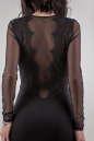 Коктейльное платье футляр черного цвета 1682.47 No3|интернет-магазин vvlen.com