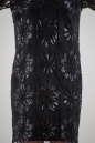 Коктейльное платье трапеция черного цвета 2525-1.10 No3 интернет-магазин vvlen.com