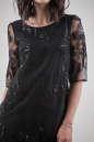 Коктейльное платье трапеция черного цвета 2525.10 No4|интернет-магазин vvlen.com