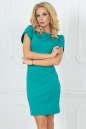 Повседневное платье футляр мятного цвета 2504.47|интернет-магазин vvlen.com