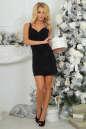 Коктейльное платье футляр черного цвета 375.5 No1 интернет-магазин vvlen.com