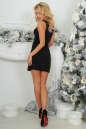 Коктейльное платье футляр черного цвета 375.5 No3 интернет-магазин vvlen.com