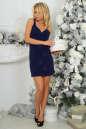 Коктейльное платье футляр темно-синего цвета 375.5 No0|интернет-магазин vvlen.com