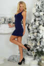 Коктейльное платье футляр темно-синего цвета 375.5 No2|интернет-магазин vvlen.com
