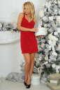 Коктейльное платье футляр красного цвета 375.5 No1 интернет-магазин vvlen.com