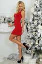Коктейльное платье футляр красного цвета 375.5 No2 интернет-магазин vvlen.com