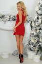 Коктейльное платье футляр красного цвета 375.5 No3 интернет-магазин vvlen.com