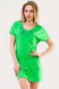 Летнее платье футляр зеленого цвета 1518.17 No0|интернет-магазин vvlen.com