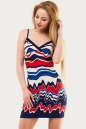 Летнее платье-комбинация синего с красным цвета 1528.33 No0|интернет-магазин vvlen.com