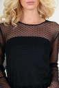 Клубное платье с пышной юбкой черного цвета 2094-3.10 No4|интернет-магазин vvlen.com