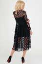 Клубное платье с пышной юбкой черного гороха цвета 2094-3.10 No2|интернет-магазин vvlen.com