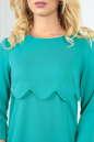 Повседневное платье футляр мятного цвета 2488.47 No4|интернет-магазин vvlen.com