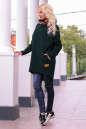 Худи оверсайз темно-зеленого цвета с капюшоном  No1|интернет-магазин vvlen.com