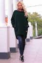 Худи оверсайз темно-зеленого цвета с капюшоном  No2|интернет-магазин vvlen.com