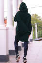 Худи оверсайз темно-зеленого цвета с капюшоном  No3|интернет-магазин vvlen.com