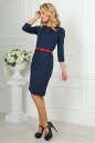 Офисное платье футляр темно-синего цвета No2|интернет-магазин vvlen.com