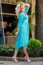Коктейльное платье с расклешённой юбкой бирюзового цвета 2380.86 No1|интернет-магазин vvlen.com