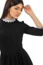 Офисное платье с расклешённой юбкой черного цвета No5|интернет-магазин vvlen.com