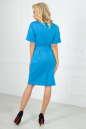 Повседневное платье футляр голубого с белым цвета No3 интернет-магазин vvlen.com