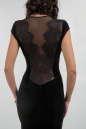 Коктейльное платье футляр черного цвета 1683.26 No4|интернет-магазин vvlen.com