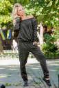 Женский комбинезон брючный темно-зеленого цвета 2389.1 No1|интернет-магазин vvlen.com