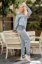 Женский комбинезон брючный серого цвета 2389 .1 No2|интернет-магазин vvlen.com