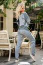 Женский комбинезон брючный серого цвета 2389 .1 No4|интернет-магазин vvlen.com
