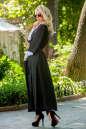 Кардиган с поясом черного цвета No4|интернет-магазин vvlen.com