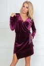 Коктейльное платье футляр фиолетового цвета No0|интернет-магазин vvlen.com
