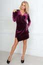 Коктейльное платье футляр фиолетового цвета No1|интернет-магазин vvlen.com