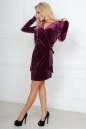 Коктейльное платье футляр фиолетового цвета No3|интернет-магазин vvlen.com