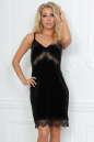 Коктейльное платье комбинация черного цвета No0|интернет-магазин vvlen.com